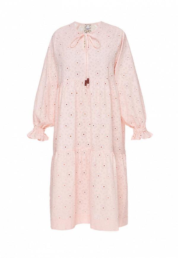 повседневные платье i am для девочки, розовое