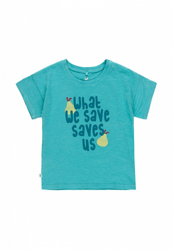 футболка с коротким рукавом boboli для девочки, бирюзовая