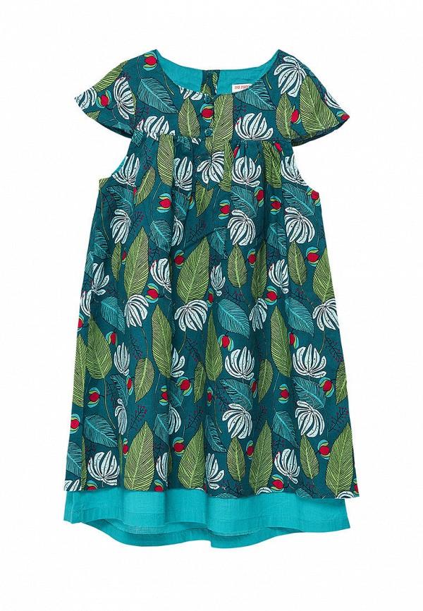 повседневные платье du pareil au même для девочки, бирюзовое