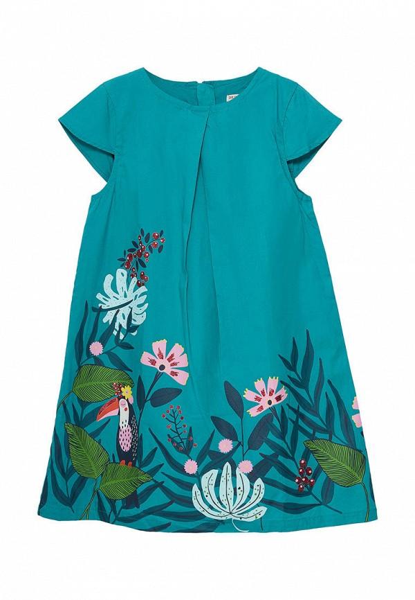 повседневные платье du pareil au même для девочки, голубое