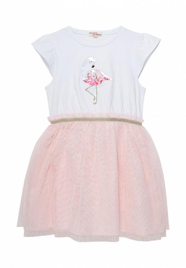 повседневные платье du pareil au même для девочки, розовое