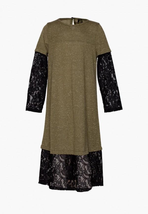 платье yumster для девочки, зеленое