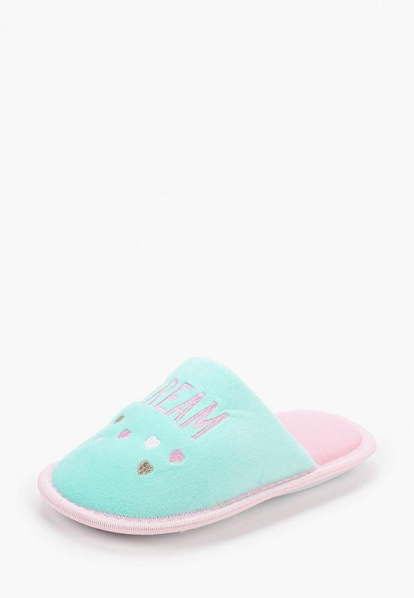 Тапочки для девочки T.Taccardi цвет бирюзовый  Фото 2