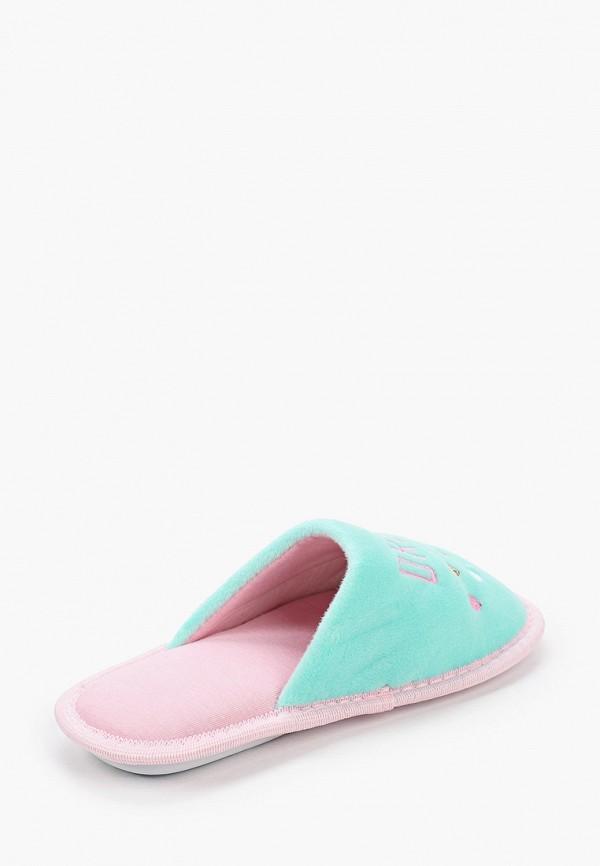Тапочки для девочки T.Taccardi цвет бирюзовый  Фото 3
