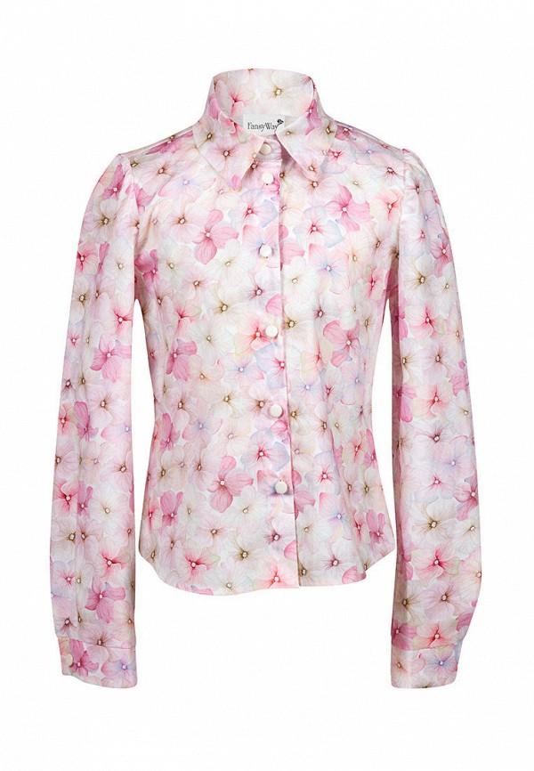 рубашка fansyway для девочки, розовая