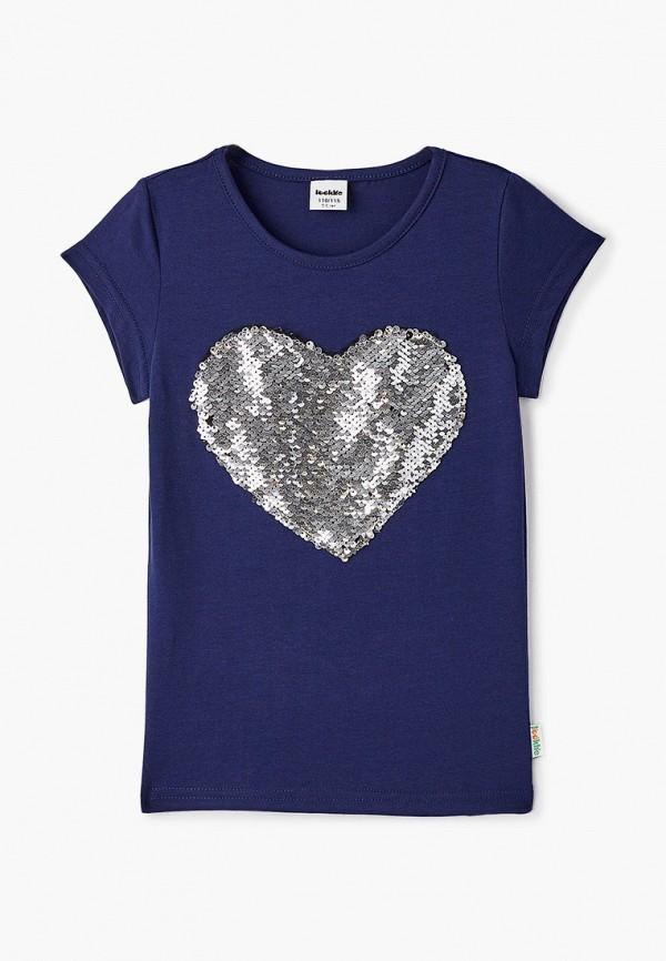 футболка с коротким рукавом looklie для девочки, синяя