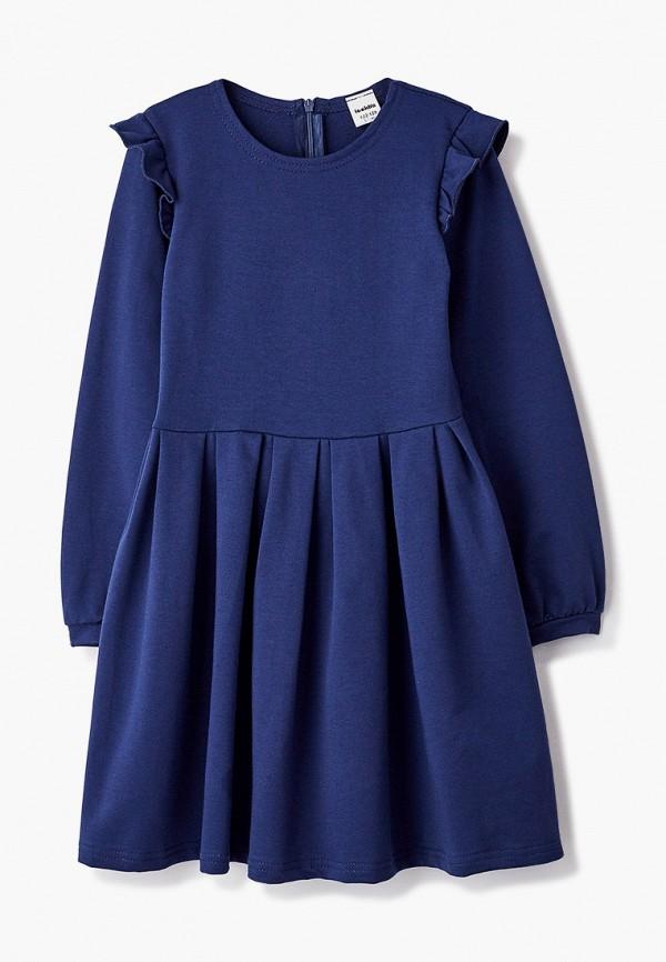 повседневные платье looklie для девочки, синее