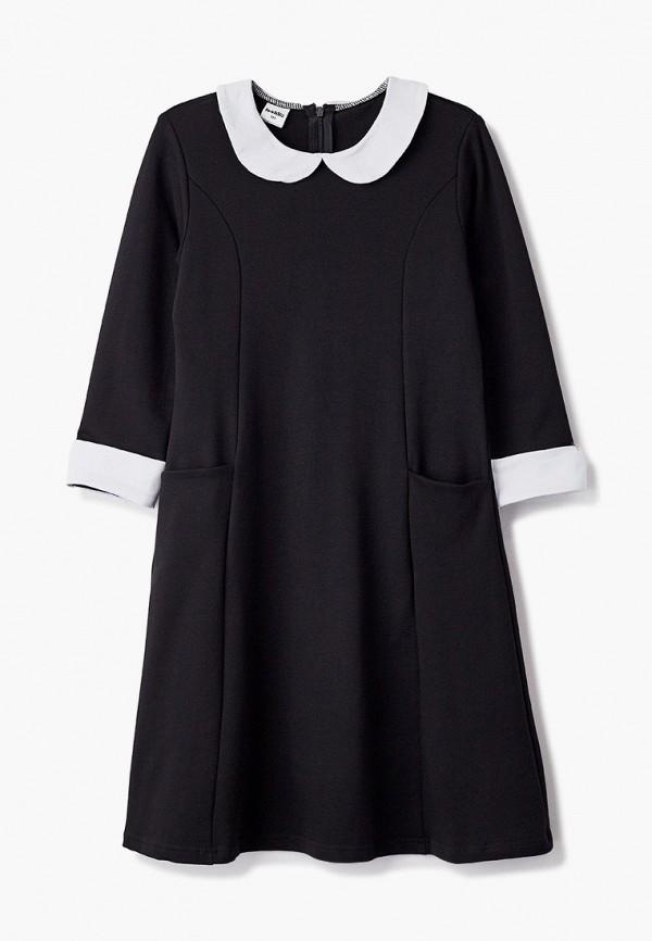 повседневные платье looklie для девочки, черное