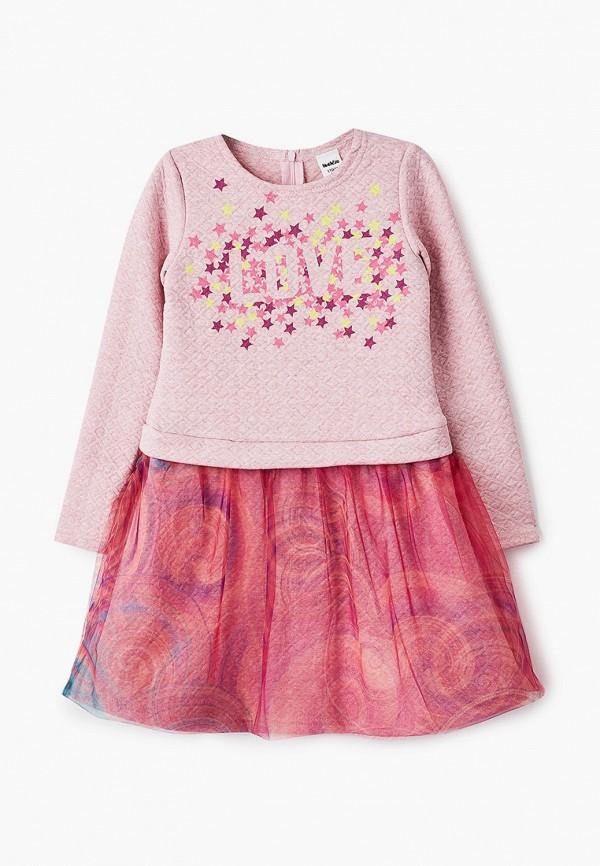 повседневные платье looklie для девочки, розовое
