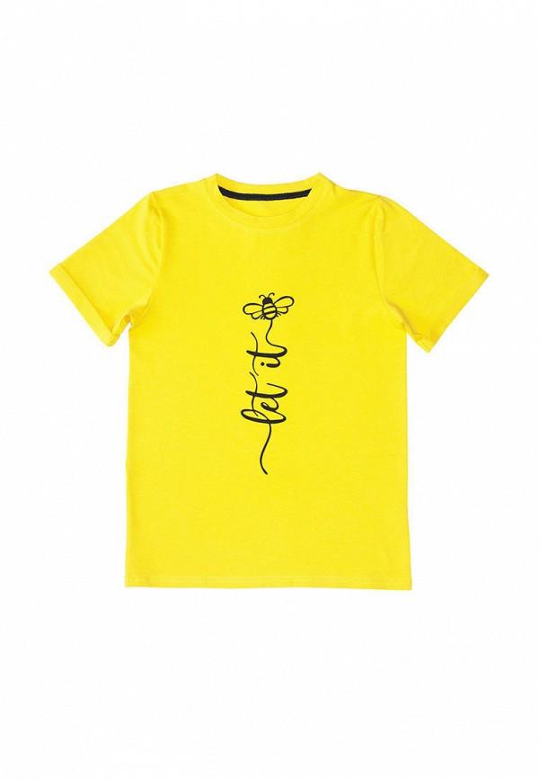 футболка с коротким рукавом chirks для девочки, желтая