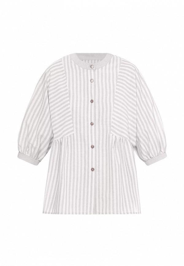 блузка i am для девочки, серая