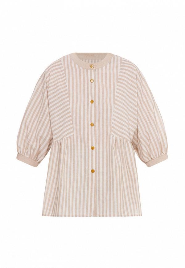 блузка i am для девочки, бежевая