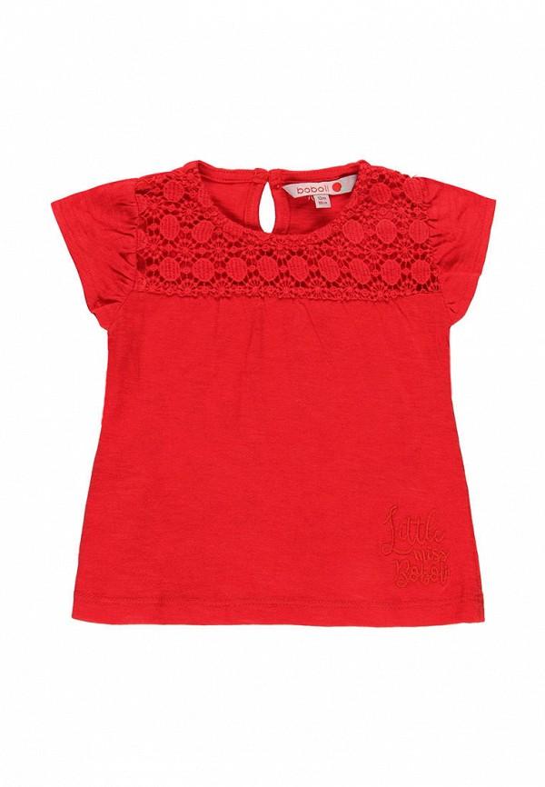 футболка с коротким рукавом boboli для девочки, красная