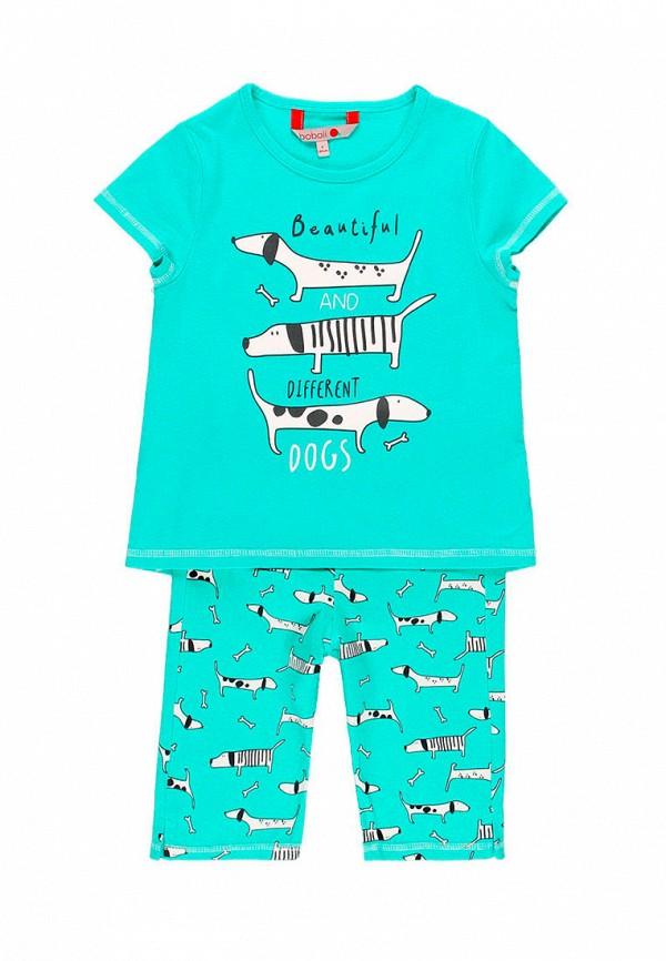 пижама boboli для девочки, бирюзовая
