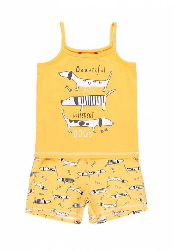 пижама boboli для девочки, желтая