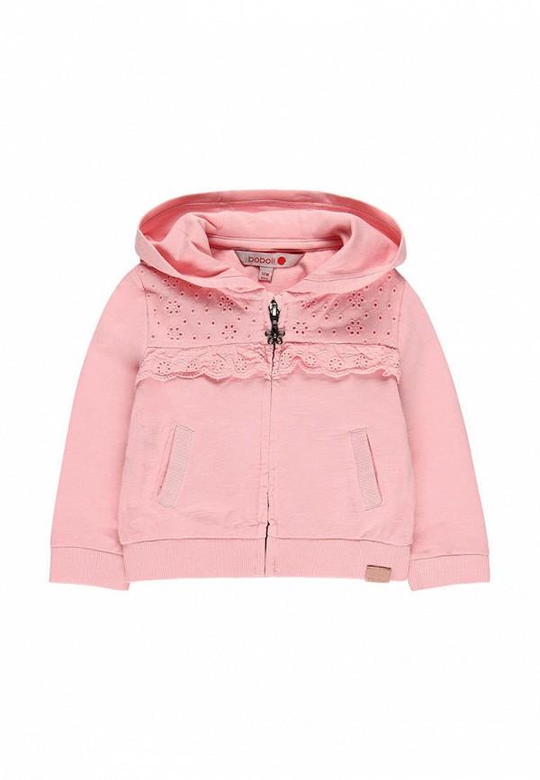 толстовка boboli для девочки, розовая