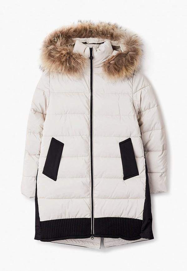 утепленные куртка fobs для девочки, белая