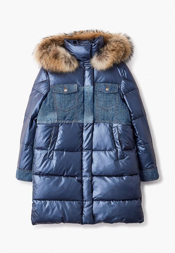 утепленные куртка fobs для девочки, синяя