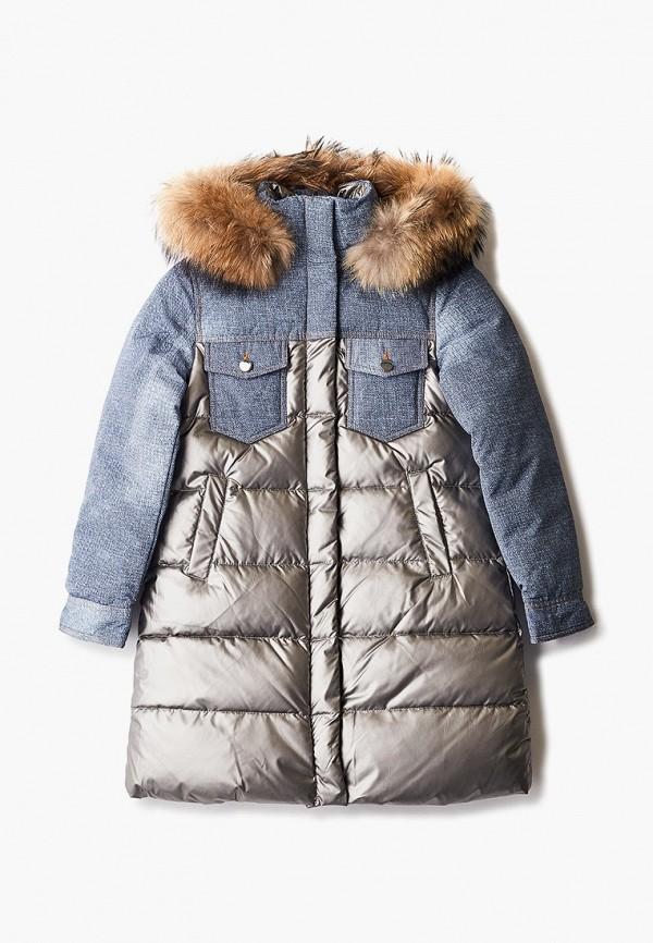 утепленные куртка fobs для девочки, серая