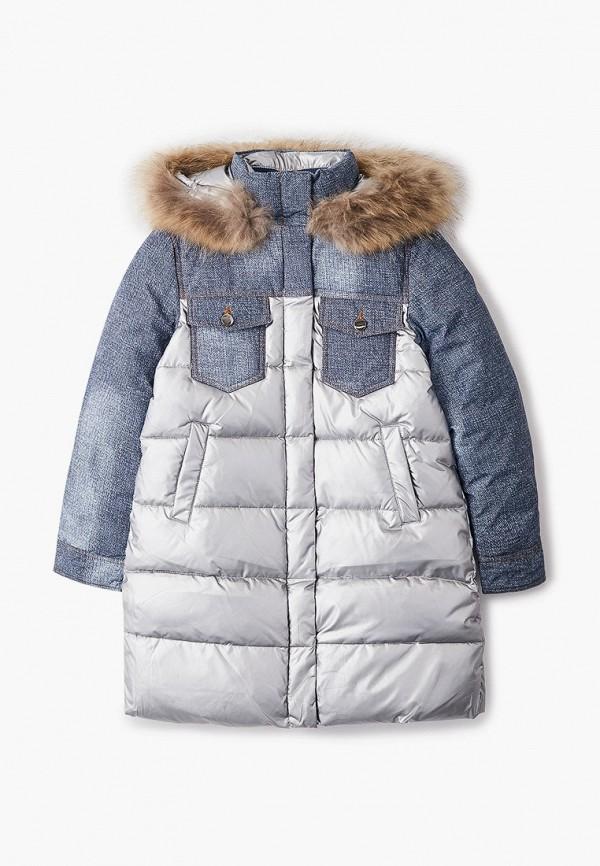 утепленные куртка fobs для девочки, серебряная