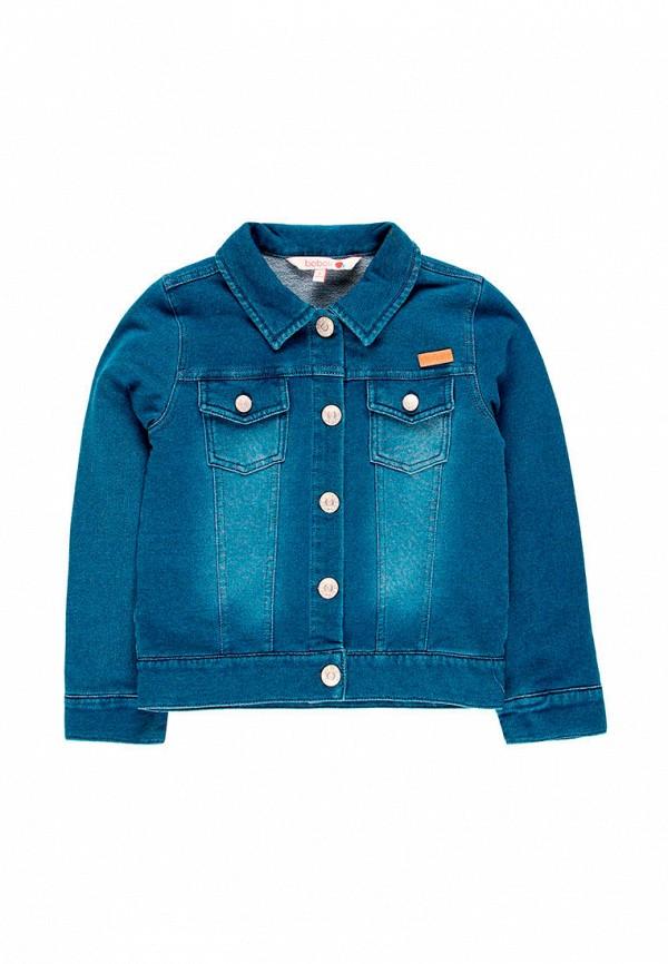 куртка boboli для девочки, синяя