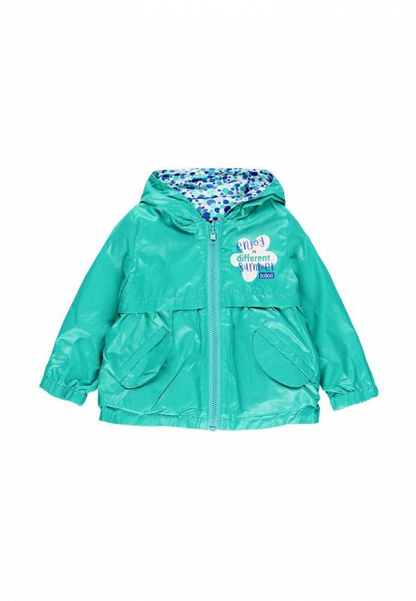 куртка boboli для девочки, голубая