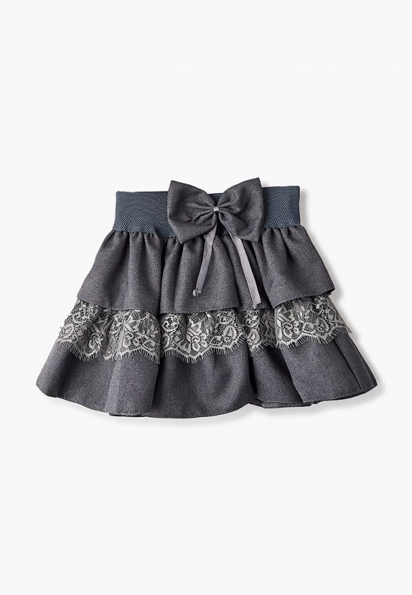 юбка соль&перец для девочки, серая