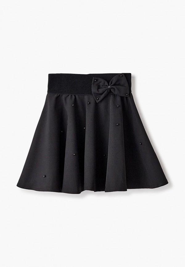 юбка соль&перец для девочки, черная