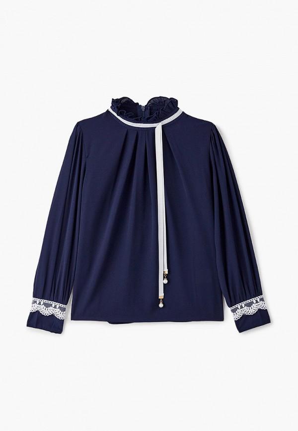 блузка соль&перец для девочки, синяя