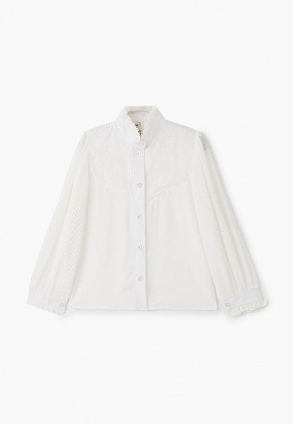 блузка соль&перец для девочки, бежевая
