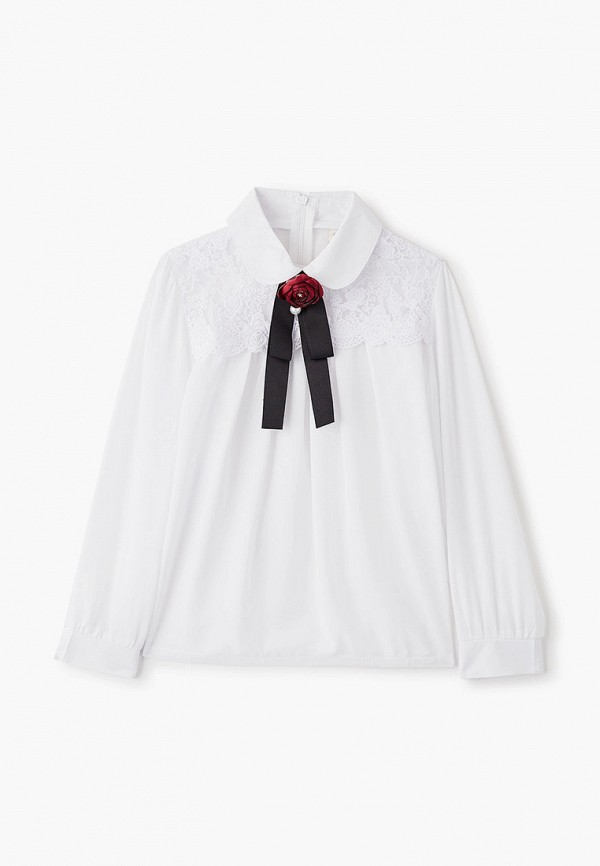 блузка соль&перец для девочки, белая