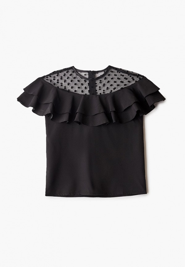 блузка соль&перец для девочки, черная
