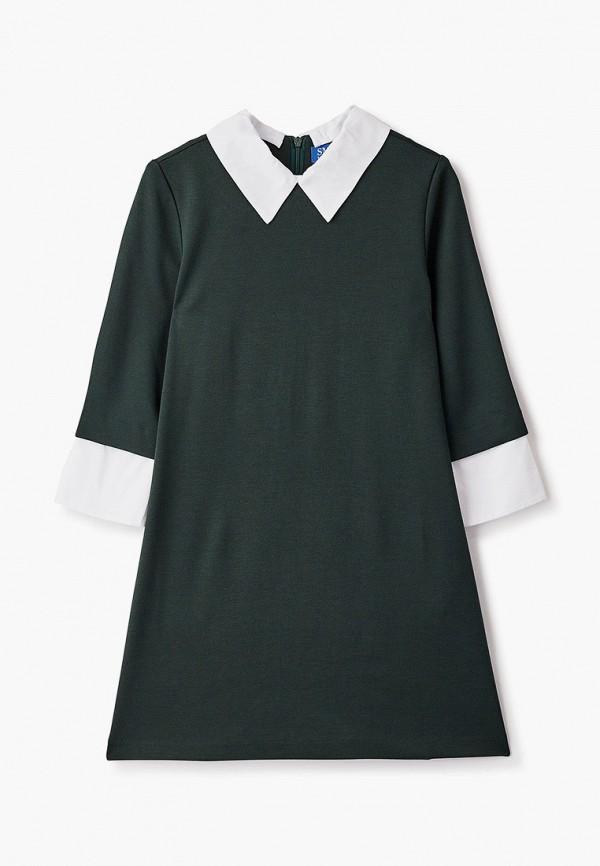 повседневные платье smena для девочки, зеленое