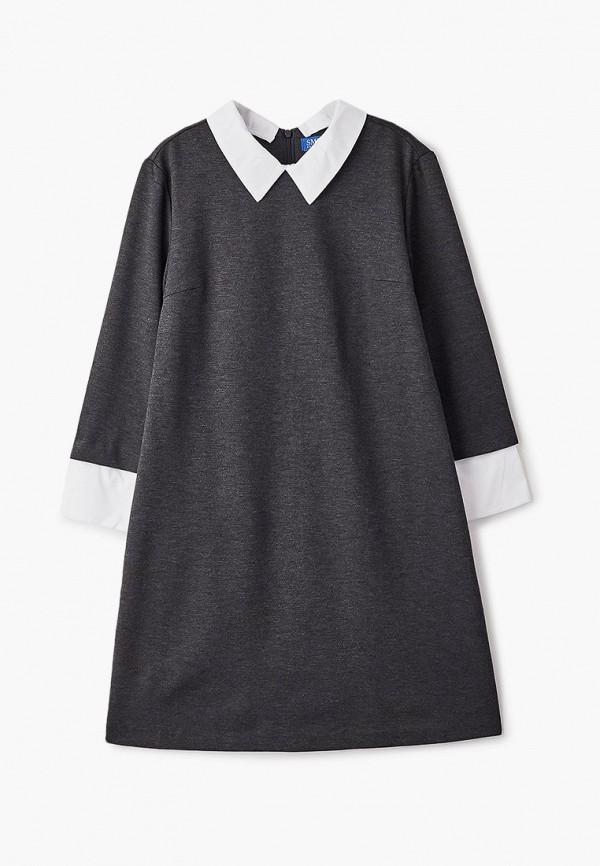 повседневные платье smena для девочки, серое