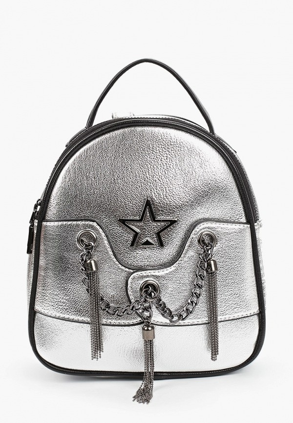 рюкзак vitacci для девочки, серебряный