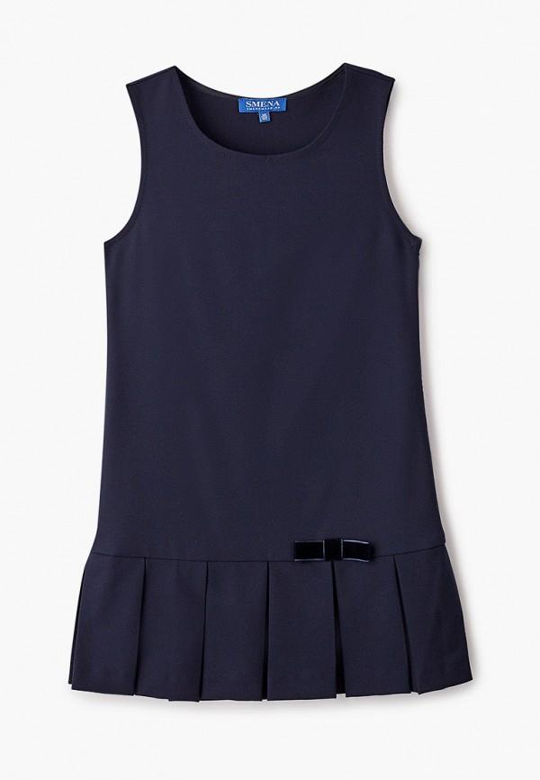 повседневные платье smena для девочки, синее