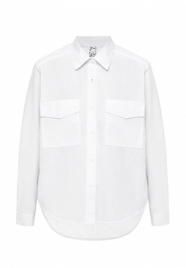 рубашка i am для девочки, белая