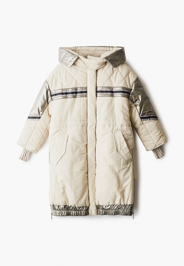 Куртка для девочки утепленная Mes ami цвет бежевый