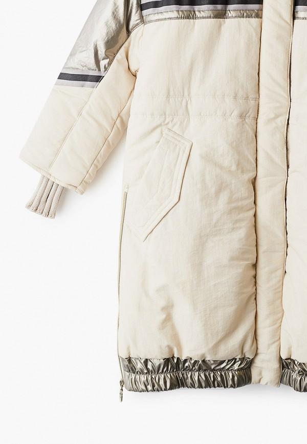Куртка для девочки утепленная Mes ami цвет бежевый  Фото 3