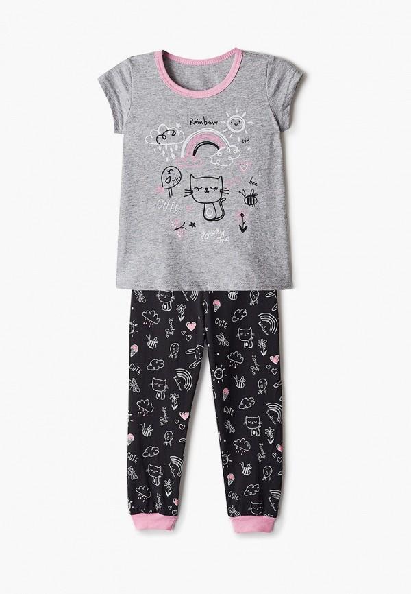 Пижама для девочки Веселый малыш цвет разноцветный