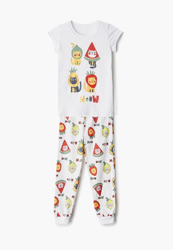 Пижама для девочки Веселый малыш цвет белый