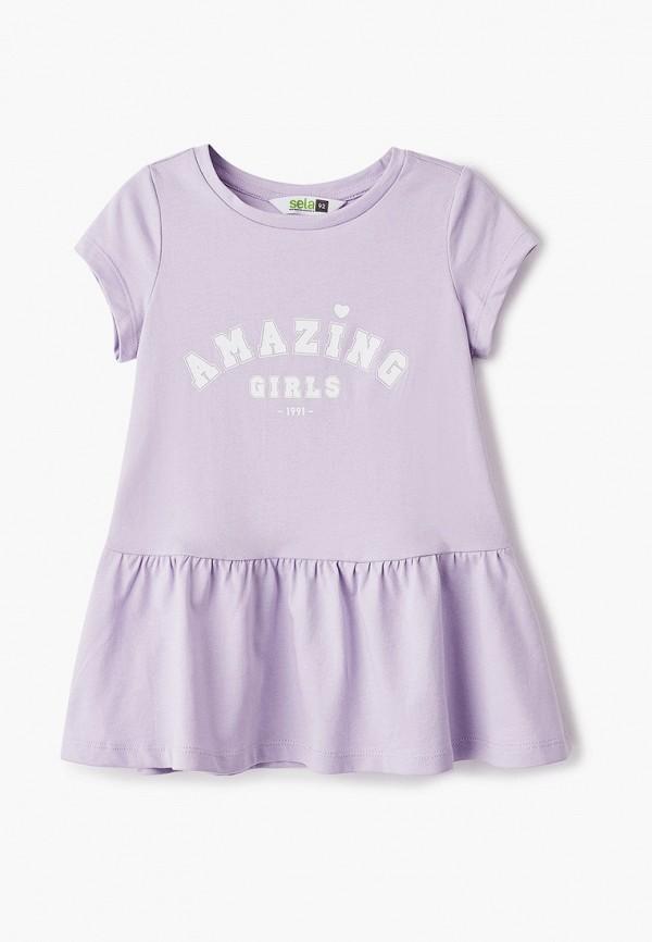 Платья для девочки Sela цвет фиолетовый