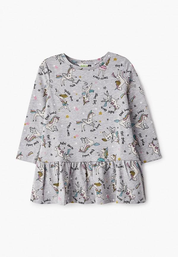 Платья для девочки Sela цвет серый