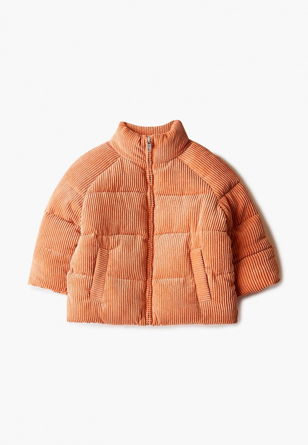 утепленные куртка sela для девочки, оранжевая