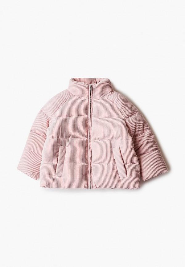 утепленные куртка sela для девочки, розовая