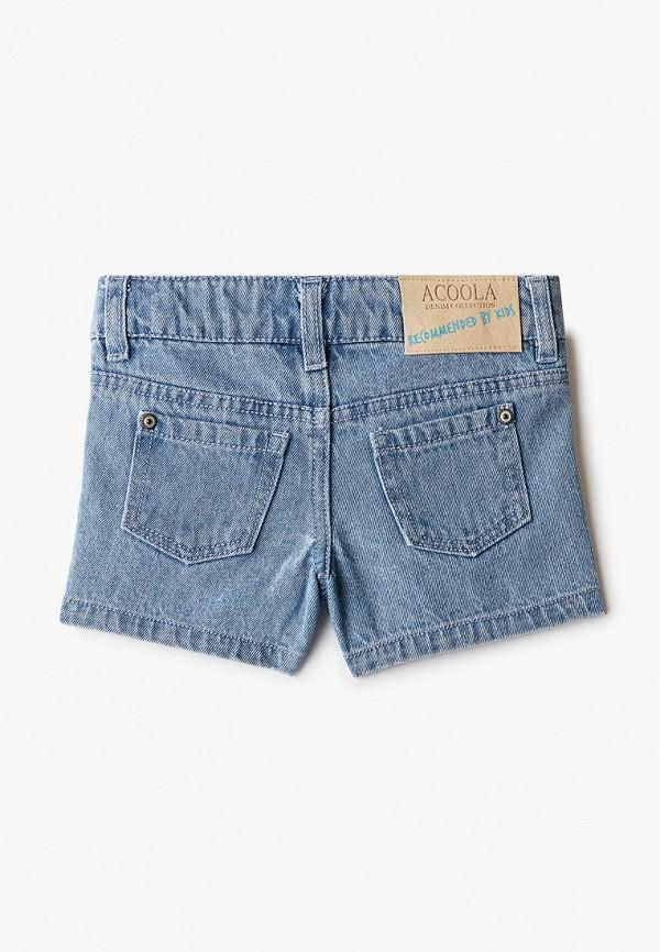 Шорты для девочки джинсовые Acoola цвет голубой  Фото 2