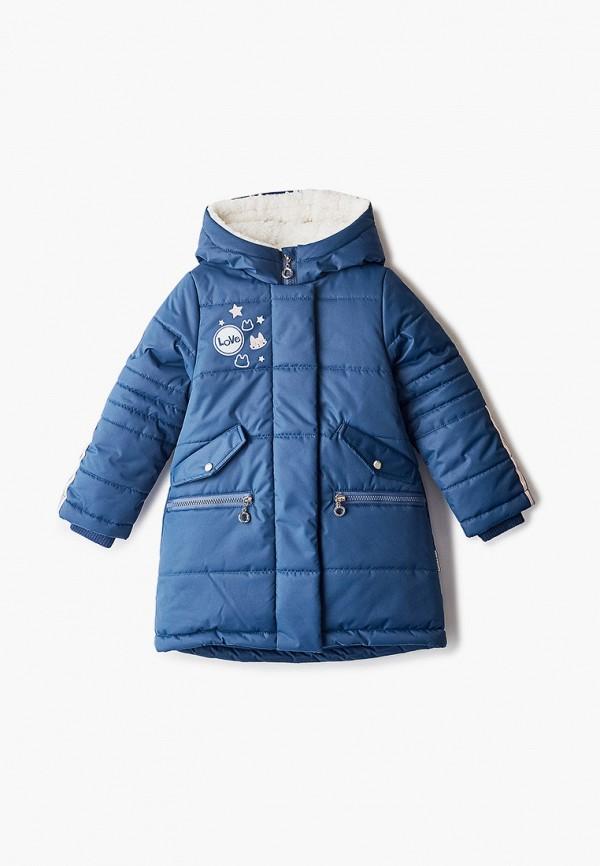 Куртка для девочки утепленная АксАрт цвет синий