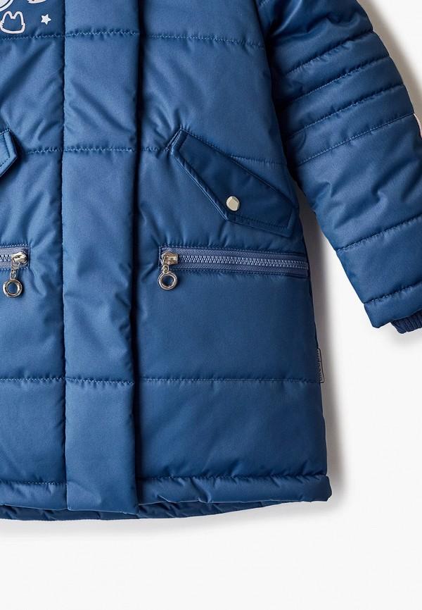 Куртка для девочки утепленная АксАрт цвет синий  Фото 3
