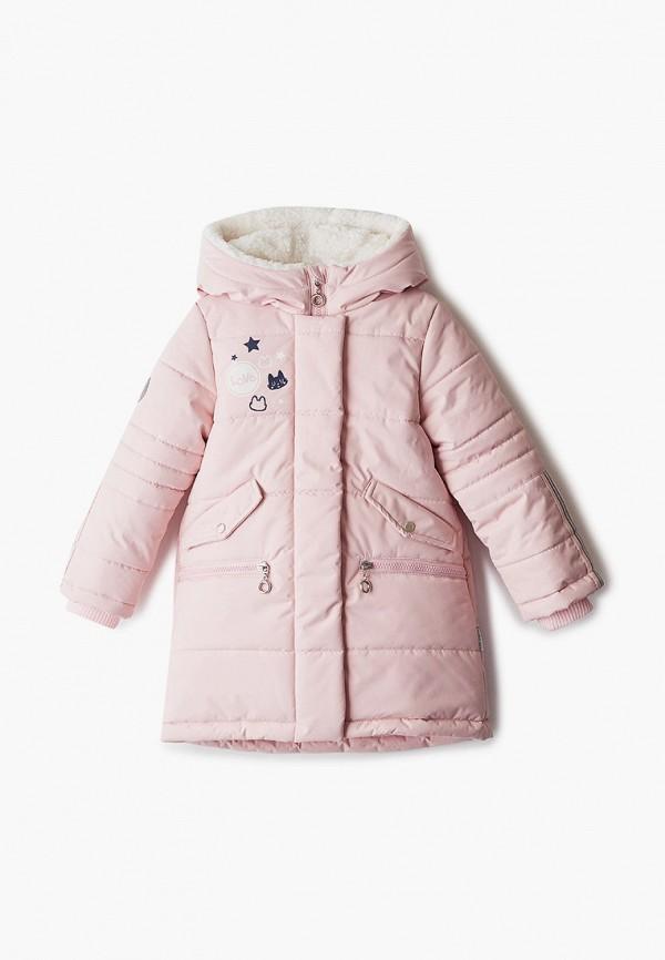 Куртка для девочки утепленная АксАрт цвет розовый