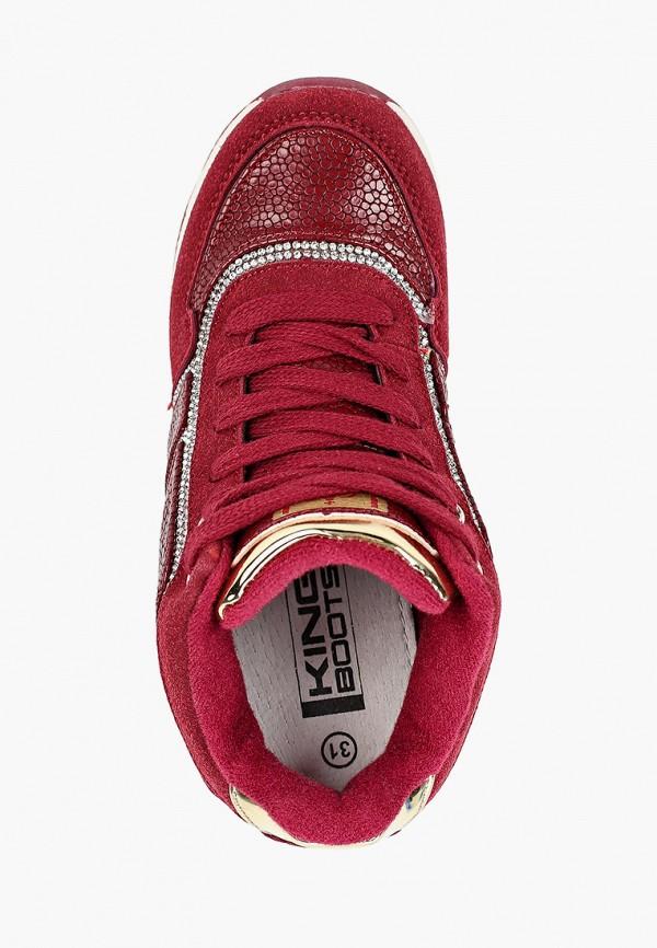 Кроссовки для девочки King Boots цвет бордовый  Фото 4